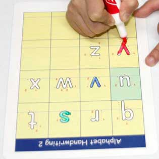 abc alphabets tracing cards