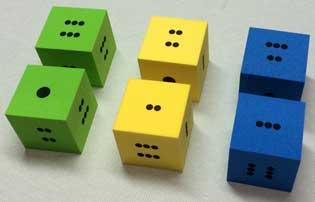 遊戲 泡棉點數骰子