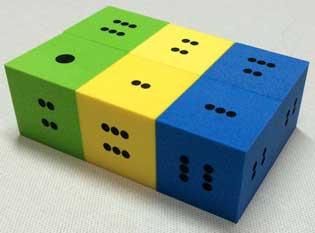 foam dots dice