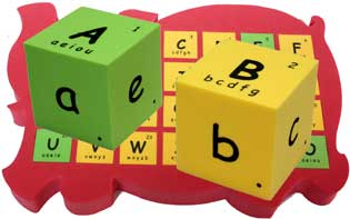 自然拼音 拼字 骰子 alphabets phonics spelling blocks cubes