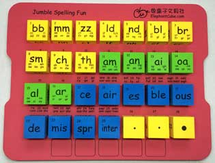 english phonics word family cubes