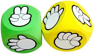 rock paper scissors stone games dice cubes