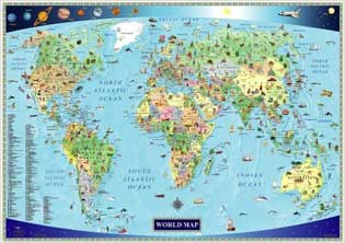 kids children english world map